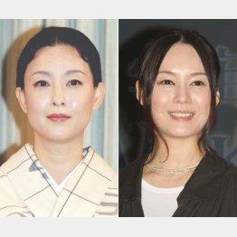 吉田鋼太郎の相手役を演じる床嶋佳子(左)と奥貫薫/(C)日刊ゲンダイ