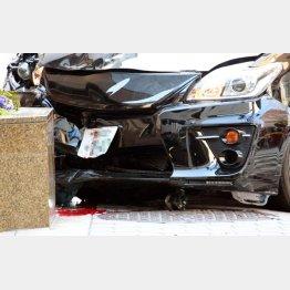 大阪・梅田の事故では歩道に乗り上げ停車した