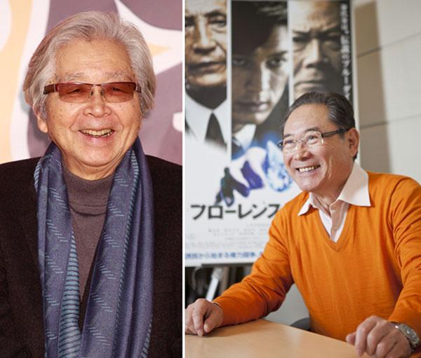 山田洋次監督(左)と前田吟(C)日刊ゲンダイ