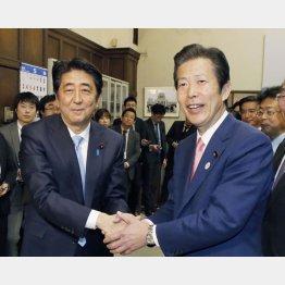 党首は握手していても…(C)日刊ゲンダイ