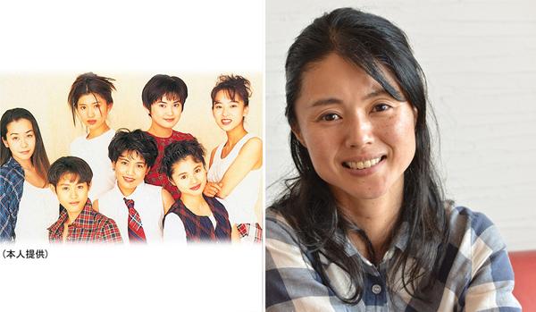 米光美保さん(左は花のTPD1期生時代、前列右端が本人)/(C)日刊ゲンダイ