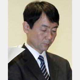 取材に応じた巨人の森田清司法務部長