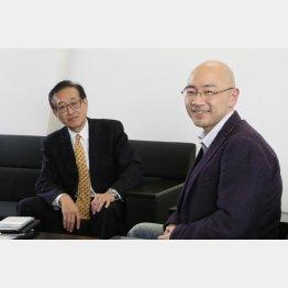 石井光太氏(右)と二木氏