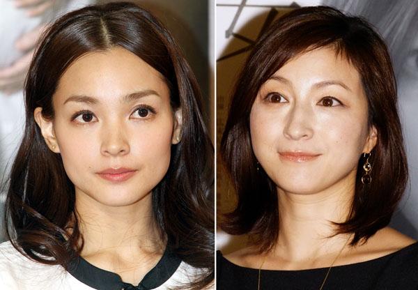 国仲涼子(左)と広末涼子(C)日刊ゲンダイ