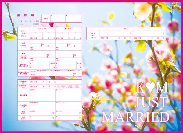 手作り婚姻届(提供写真)