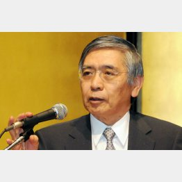 日銀の黒田総裁はいまや庶民の敵(C)日刊ゲンダイ