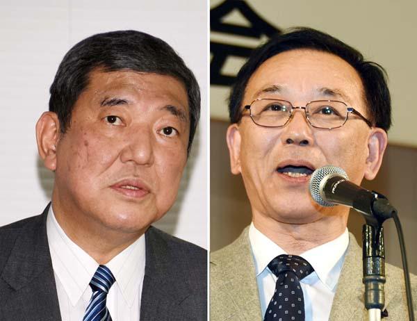 石破氏(左)や谷垣氏では…(C)日刊ゲンダイ