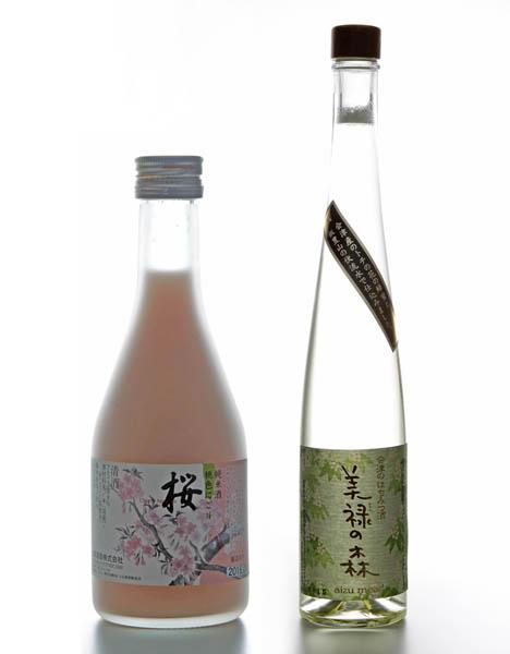 「美禄の森」(左)と「桃色にごり 桜」/(提供写真)