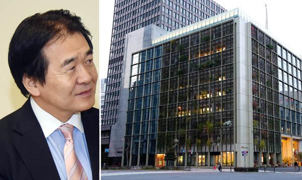 「日本雇用創出機構」の入るパソナグループ本社と竹中会長(C)日刊ゲンダイ