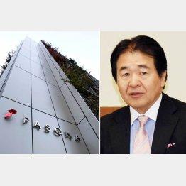 日本雇用創出機構が入るパソナグループ本社と竹中平蔵会長(C)日刊ゲンダイ