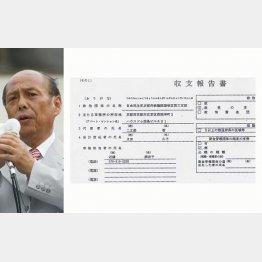 二之湯参議院議員と収支報告書(C)日刊ゲンダイ