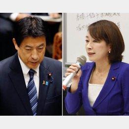 塩崎大臣(左)と山尾議員