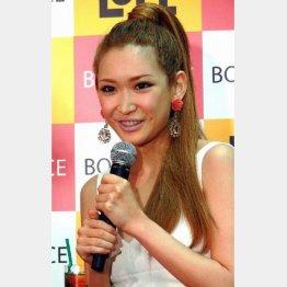 3日には交際宣言が飛び出した紗栄子(C)日刊ゲンダイ