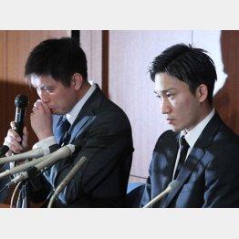 桃田をカジノに誘った田児(左)は泣いていたが(C)日刊ゲンダイ