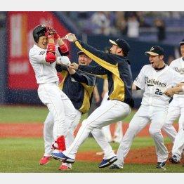 この日は2年目・小田(左)のサヨナラ安打で盛り上がったが…(C)日刊ゲンダイ