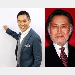 俳優の内藤剛志(左)と北大路欣也