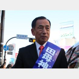 都知事選では渋谷駅で第一声(C)日刊ゲンダイ