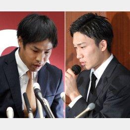 1年間の失格処分の巨人・高木(左)とリオ五輪出場が消滅の桃田(C)日刊ゲンダイ