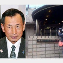 写真右は田母神容疑者の住むマンション(C)日刊ゲンダイ