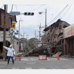 家屋の倒壊が相次いだ熊本県益城町(C)日刊ゲンダイ