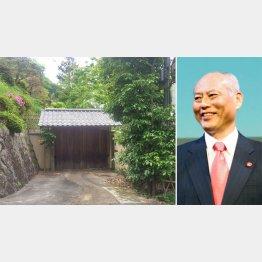 「理想郷」にある舛添都知事(右)の別荘(C)日刊ゲンダイ