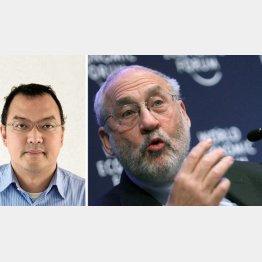 問題の本質は消費増税の是非ではない(スティグリッツ教授=右と宇沢達氏)/(C)日刊ゲンダイ