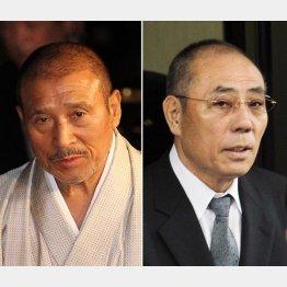6代目山口組の司忍組長(左)と神戸山口組の井上邦雄組長