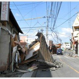 熊本地震で震度7を記録した益城町(C)日刊ゲンダイ