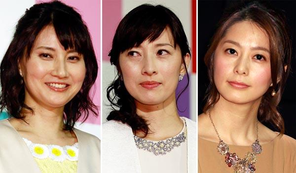 左から井上あさひ、小郷知子、杉浦友紀(C)日刊ゲンダイ