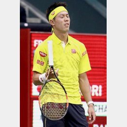 1月の全豪オープン準々決勝でもラケットを投げた(C)日刊ゲンダイ