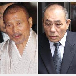 司忍6代目山口組組長(左)と井上邦雄神戸山口組組長/