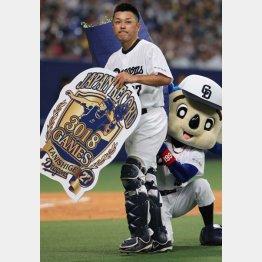 捕手でありながらプロ野球最多試合出場の記録をつくった(C)日刊ゲンダイ