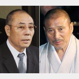 井上邦雄・神戸山口組組長(左)と司忍・6代目山口組組長/(C)日刊ゲンダイ