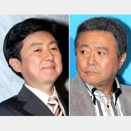 笠井アナ(左)と小倉キャスターに何が?/(C)日刊ゲンダイ