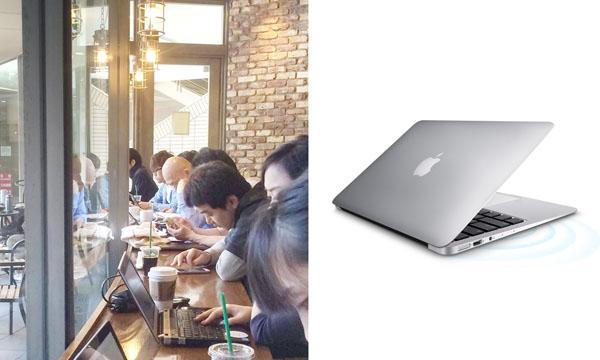 「MacBook Air」は1・08キロと軽量級/(C)日刊ゲンダイ