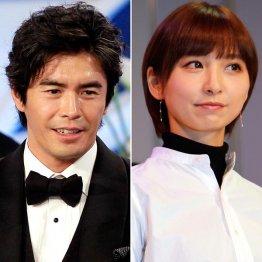 同作に出演する伊藤英明と篠田麻里子