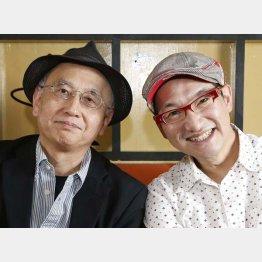 春風亭昇太(右)と聞き手の吉川潮氏