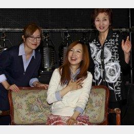 (左から)舞台「桂由美物語」に出演する高樹澪、森口博子、汀夏子