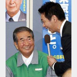 4選を果たして宮根誠司にインタビューされる石原慎太郎