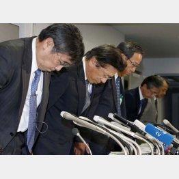 手前から益子会長と相川社長(C)日刊ゲンダイ
