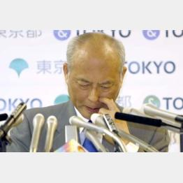 釈明会見をする舛添都知事(C)日刊ゲンダイ