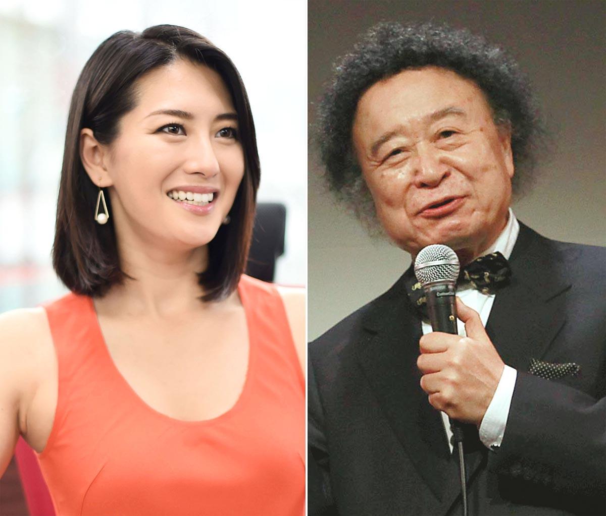 矢吹春奈(左)と撮影した篠山紀信(C)日刊ゲンダイ