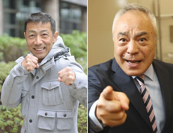 森脇健児(左)の背中を押した西川のりお/(C)日刊ゲンダイ