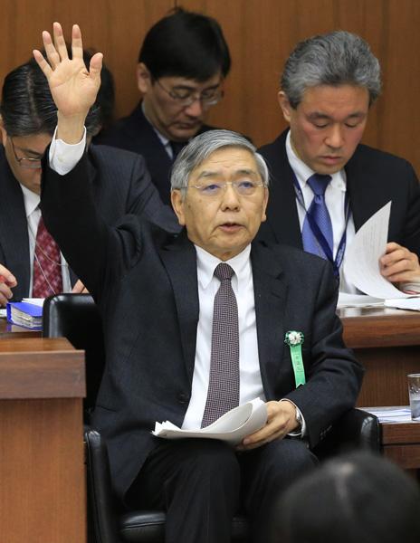 万策尽きた黒田日銀総裁(C)日刊ゲンダイ