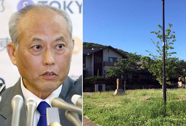 舛添の実家があった場所は公園と住宅地になっていた(右)/(C)日刊ゲンダイ