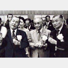 左から、田中角栄、二階堂進、竹下登(C)日刊ゲンダイ
