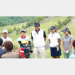 クラウンヒルズ京都ゴルフ倶楽部でテレビ収録