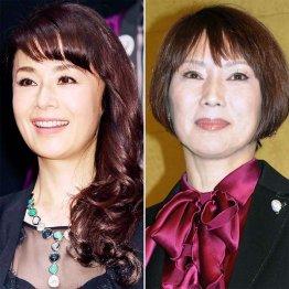 大地真央(左)と秋野暢子は幼馴染みの設定