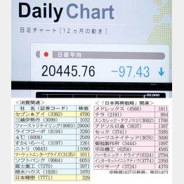 日経平均2万円の声も…(C)日刊ゲンダイ