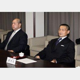 八角理事長(左)の期待も裏切る格好に(C)日刊ゲンダイ